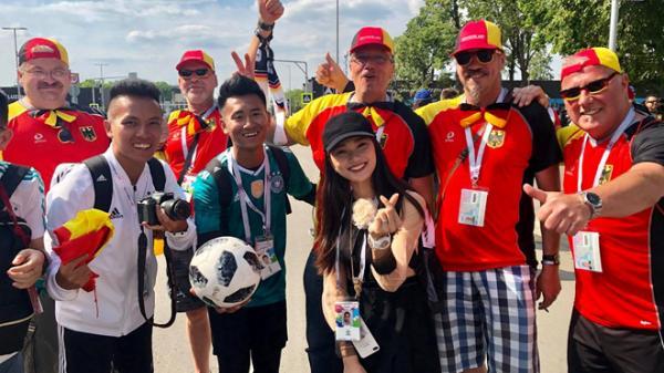 Á khôi xứ Nghệ rạng rỡ sang Nga xem World Cup, cổ vũ đội Brazil