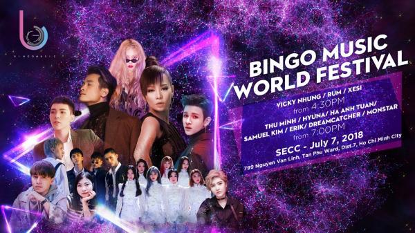 """Đừng quên có hẹn với đại tiệc âm nhạc """"Bingo Music World Festival in Ho Chi Minh"""" vào ngày mai"""