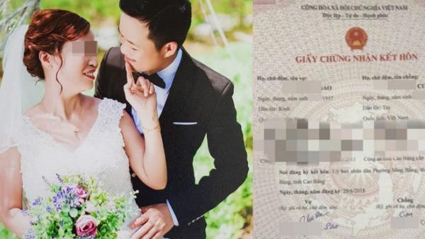 Xôn xao chuyện chàng trai 26 tuổi kết hôn với người phụ nữ 61 tuổi