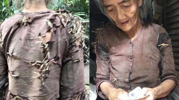 """Miền Tây: Xót xa """"bà cụ sống trong vườn nhà hàng xóm, quần áo rách phải vá bằng rơm rạ"""" đang lan truyền dữ dội trên MXH"""