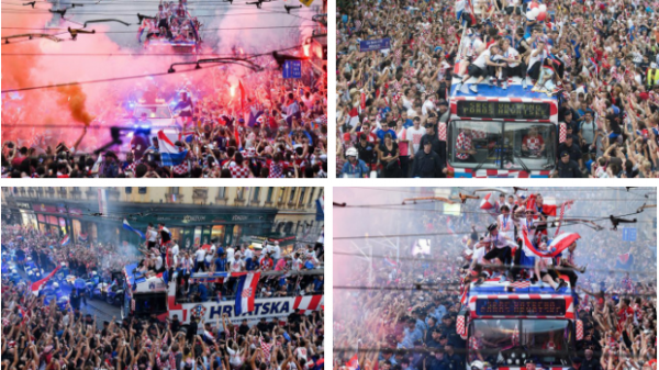 Biển người chào đón Á vương Croatia trở về nước sau hành trình kỳ diệu ở World Cup 2018