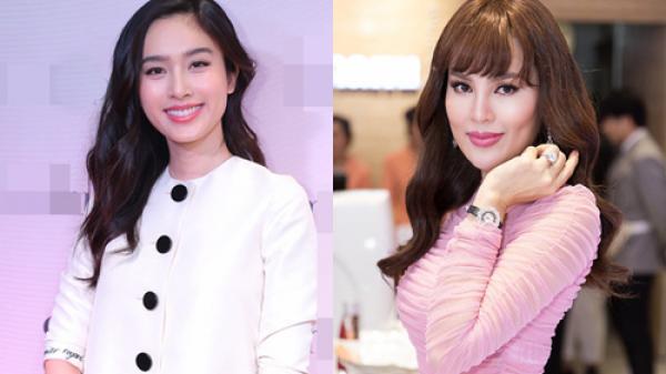 Hoa hậu quê Trà Vinh Phương Lê đeo nhẫn 20 tỷ đi tiệc với sao chuyển giới Nong Poy