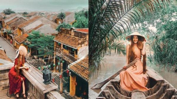 """Hotgirl """"công chúa tóc mây"""" gốc Việt check-in Trà Vinh, Hội An với những bức ảnh đẹp đến mê hồn!"""
