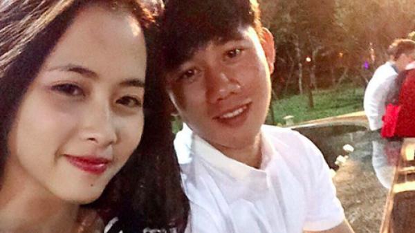 """Bạn gái xinh như hoa hậu của cầu thủ Minh Vương với """"siêu phẩm"""" ở trận bán kết Việt Nam - Hàn Quốc"""