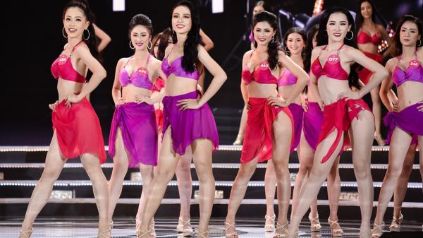 Ngắm Á hậu 2 đến từ Kiên Giang cùng các thí sinh đẹp nhất Hoa hậu Việt Nam trình diễn bikini nóng bỏng
