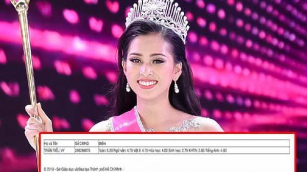 Trần Tiểu Vy bị nghi tốt nghiệp THPT với điểm số kém