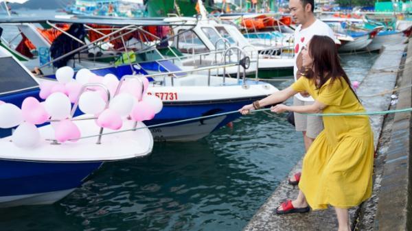 Danh hài Thu Trang bất ngờ khi được chồng bí mật tổ chức sinh nhật ở Phú Quốc