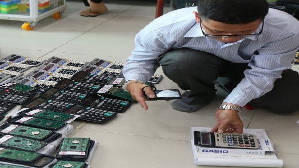 Cà Mau: Tạm giữ gần 200 máy tính có dấu hiệu hàng giả nhãn hiệu Casio