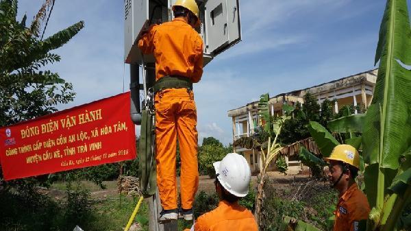 'Ốc đảo' cuối cùng của Trà Vinh hòa điện lưới quốc gia