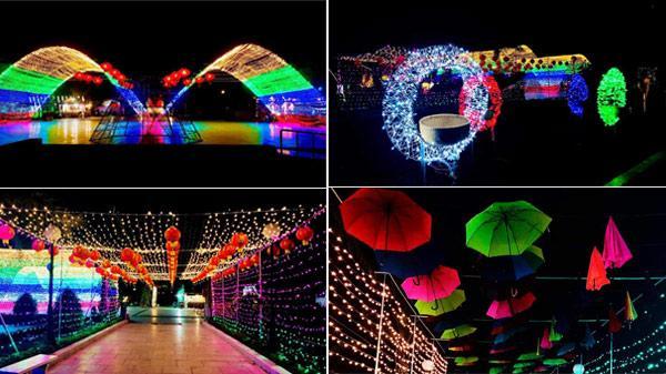 Choáng ngợp ánh sáng tại công viên Trà Vinh khiến ai cũng trầm trồ 'Tết đến nơi rồi!'