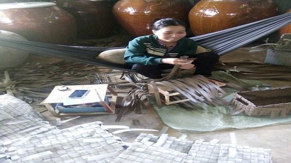 Huyện Châu Thành (Trà Vinh): Làng nghề đan đát đang khởi sắc