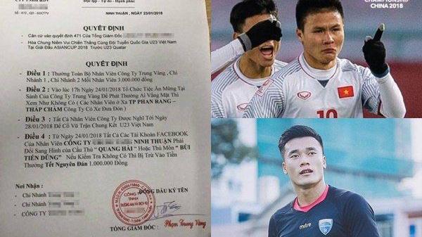Giám đốc chơi lớn: Thưởng ngay 3 triệu cho mỗi nhân viên, yêu cầu để ảnh Facebook là Quang Hải, Tiến Dũng