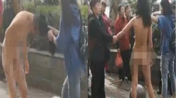 Bị bắt quả tang ăn trộm, 'nữ tặc' lột sạch quần áo hòng trốn tội