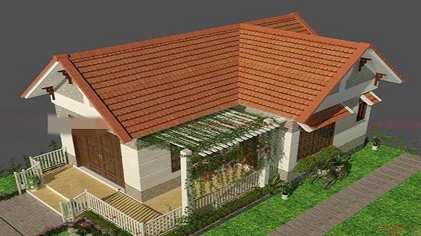 10 mẫu nhà mái ngói cực đẹp, giá rẻ với không gian mở mới nhất 2018