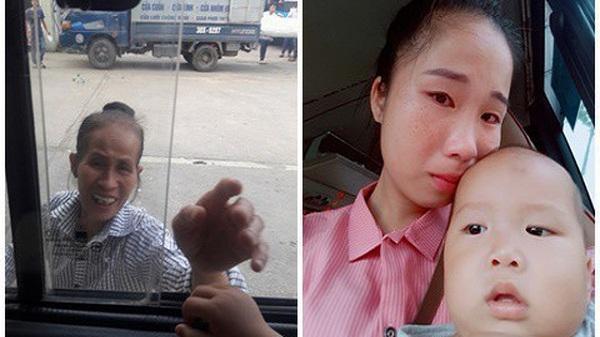 Lấy chồng xa 2 năm mới cho con về thăm ngoại, mẹ trẻ rớt nước mắt khi thấy bà bịn rịn chia tay cháu qua cửa kính xe