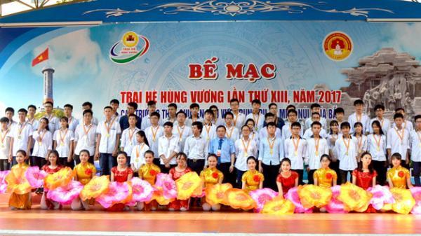 Chuyên Tuyên Quang đứng trong Top 5 những trường đạt nhiều huy chương nhất tại Trại hè Hùng Vương 2017