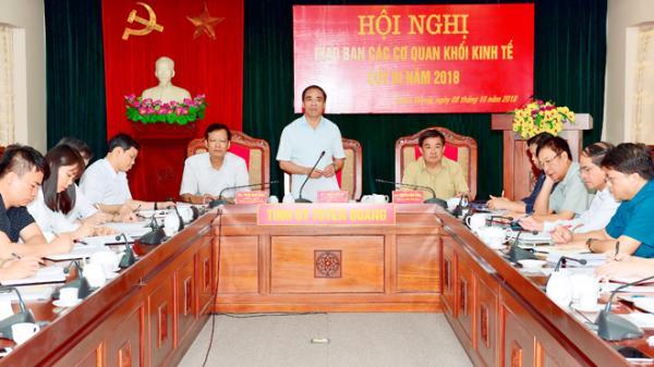 Tuyên Quang: Thường trực Tỉnh ủy giao ban với khối kinh tế