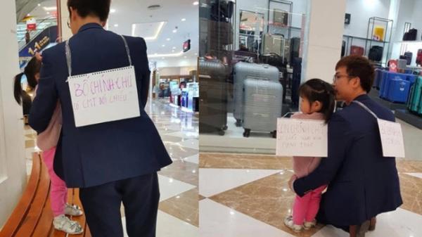 Sợ bị đ.âm c.hết, người đàn ông đeo biển 'Bố chính chủ' khi dẫn con gái đi chơi