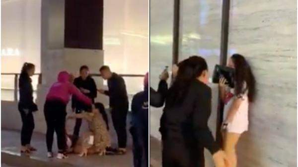 """Xôn xao clip cô gái trẻ bị nhiều phụ nữ lột váy, tát tới tấp vào mặt: """"Mày dám bảo chị tao không biết giữ chồng à?"""""""