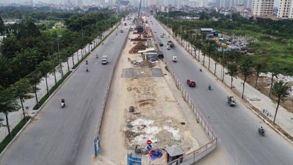 Hà Nội: Phân luồng đường Phạm Văn Đồng thi công cầu cạn Mai Dịch - Nam Thăng Long
