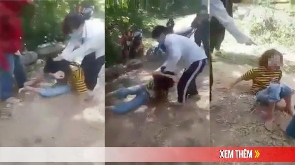 Xôn xao clip nhóm nữ sinh đánh đập bạn dã man trong rừng