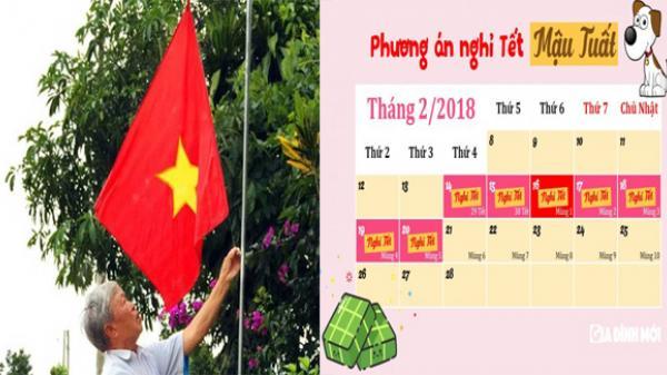 Vĩnh Long: Thông báo treo cờ Tổ quốc và lịch nghỉ Tết Nguyên đán Mậu Tuất năm 2018