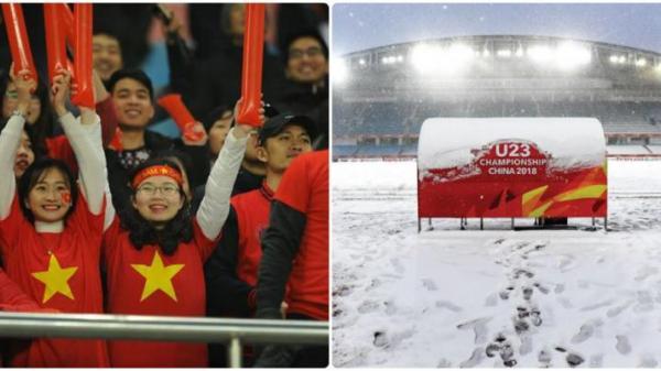 NÓNG: Tuyết lại rơi dầy, Chung kết lịch sử của U23 Việt Nam 90% bị hoãn