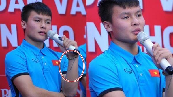 Xúc động dòng chữ xăm trên tay 'người hùng' Quang Hải
