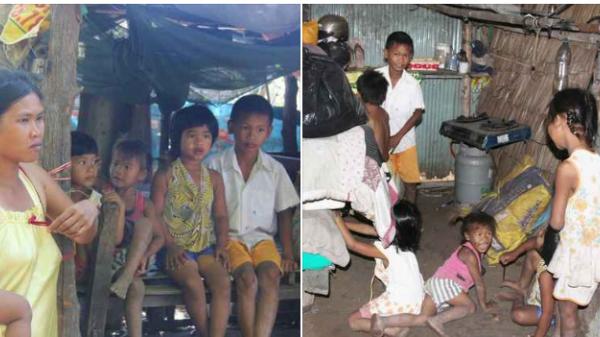 Miền Tây: Bố bỏ đi theo vợ nhỏ, 7 đứa trẻ không được đi học sống nheo nhóc bên người mẹ điên và bà ngoại già bệnh tật trong căn nhà lụp xụp