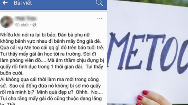 Nữ luật sư thuộc Đoàn Luật sư An Giang gây phẫn nộ khi mỉa mai trào lưu Me too