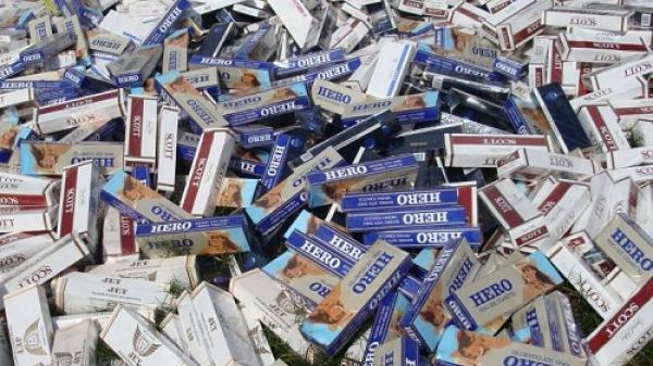 Vĩnh Long 1 trong những địa phương phát hiện và bắt giữ số lượng lớn thuốc lá nhập lậu
