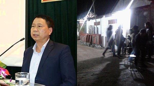 Người dân đến chia buồn khi biết tin Chủ tịch huyện Quốc Oai tử vong