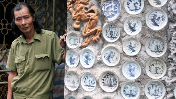 """Vĩnh Phúc: Lạ lùng ngôi nhà """"độc nhất vô nhị"""" gắn hàng nghìn đồ cổ của một """"dị nhân khùng"""""""