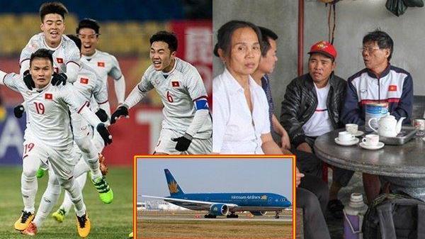 Vietnam Airlines đài thọ người thân cầu thủ U23 Việt Nam sang Trung Quốc xem trận chung kết