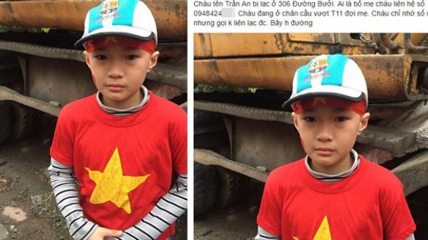 Cộng đồng mạng chung tay giúp đỡ bé trai bị lạc khi cùng bố mẹ đi đón đội tuyển U23 Việt Nam