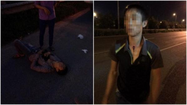 Dừng xe trên đại lộ Thăng Long, hai vợ chồng tài xế quê Vĩnh Phúc bị côn đồ dùng súng cướp tài sản