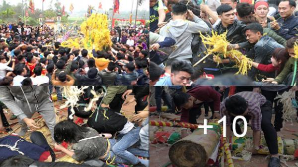 Vĩnh Phúc: Kinh hoàng cảnh hỗn chiến, giẫm đạp lên nhau cướp lộc ở lễ hội Rước cây bông