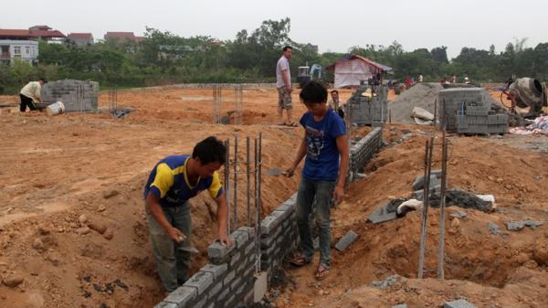 Vĩnh Phúc: Thiếu thợ mùa cao điểm xây dựng