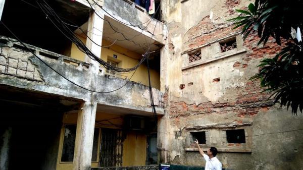 Vĩnh Phúc: Những khu nhà chung cư cũ xuống cấp