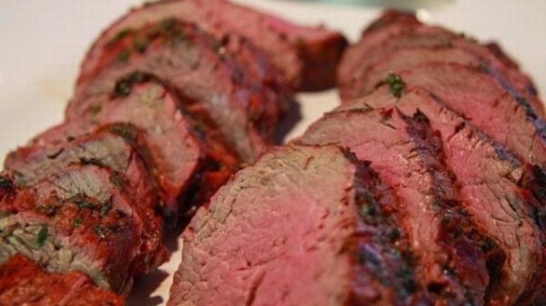 Độc đáo thịt bò tái kiến đốt Tam Đảo