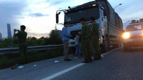 Đã bắt được kẻ cướp tiền của vợ chồng tài xế xe tải trên Đại lộ Thăng Long