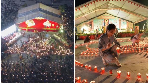 Hàng nghìn người đổ về Tam Đảo (Vĩnh Phúc) tham gia Lễ hội Hoa đăng