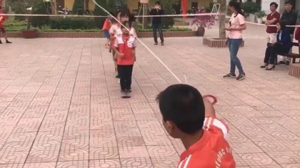 Vĩnh Phúc: Thích thú nhìn học sinh nhảy dây đều như máy liên tục 500 lượt trong 3 phút