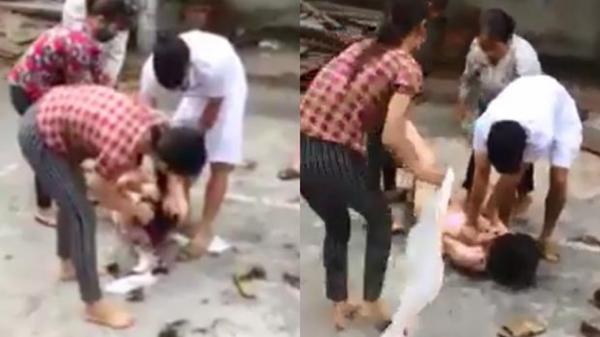 Nóng: Vợ đánh ghen, lột quần áo, cắt tóc 'nhân tình' của chồng giữ đường