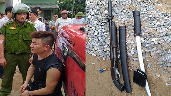 Bắt nóng đối tượng lái ô tô mang súng đi đánh ghen, đâm vào lực lượng CA để bỏ chạy