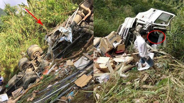 Tai nạn kinh hoàng: Xe tải đâm xuống vách núi sâu 70 mét, người phụ nữ Vĩnh Phúc tử vong, 2 người khác bị thương