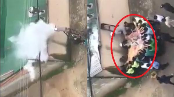 Kinh hoàng cảnh người đàn ông bị điện cao thế giật cháy đen trên mái nhà khi đang thông ống khói