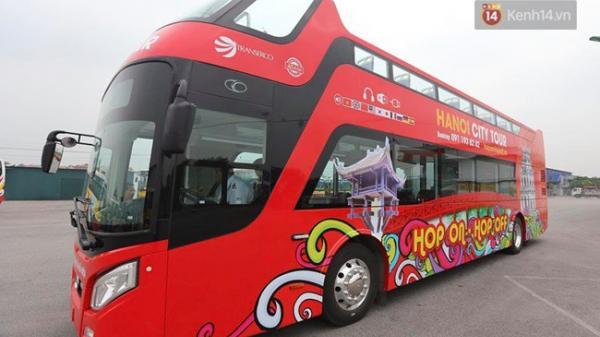 Cận cảnh chiếc xe buýt 2 tầng đầu tiên của Hà Nội chuẩn bị được đưa vào sử dụng