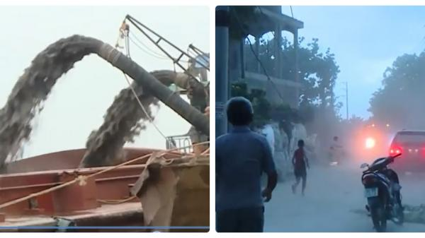 """Dân kêu gào """"thảm thiết"""" vì cát tặc lộng hành ở Trung Hà, Vĩnh Phúc"""