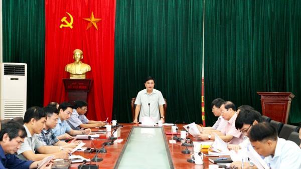 Phó Chủ tịch UBND tỉnh Vũ Việt Văn làm việc với thành phố Phúc Yên về tình hình phát triển kinh tế - xã hội 9 tháng năm 2018